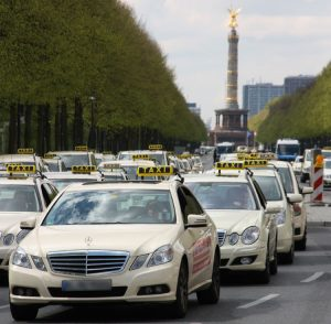 Taxi Demos in Berlin, Hamburg, London und Paris am 11. Juni 2014