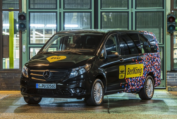 Berlkönig mit PR e-Vito Foto: Daimler AG