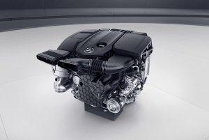 Mercedes-Benz Vierzylinder-Dieselmotor OM654 Foto: Daimler AG