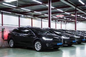 Tesla Model X Taxi Flotte der Bios Groep Foto: Tesla