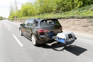 VW Golf beim RDE Testzyklus Foto: Robert-Bosch GmbH