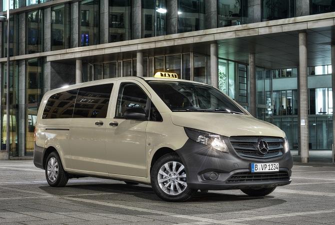 Mercedes-Benz Vito mit Taxipaket Foto: Daimler AG