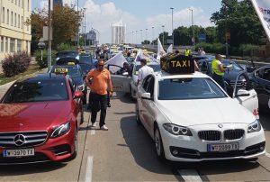 Taxi Demo in Wien Foto Irfan Kuna
