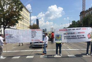 Taxi Demo in Wien Foto: Irfan Kuna