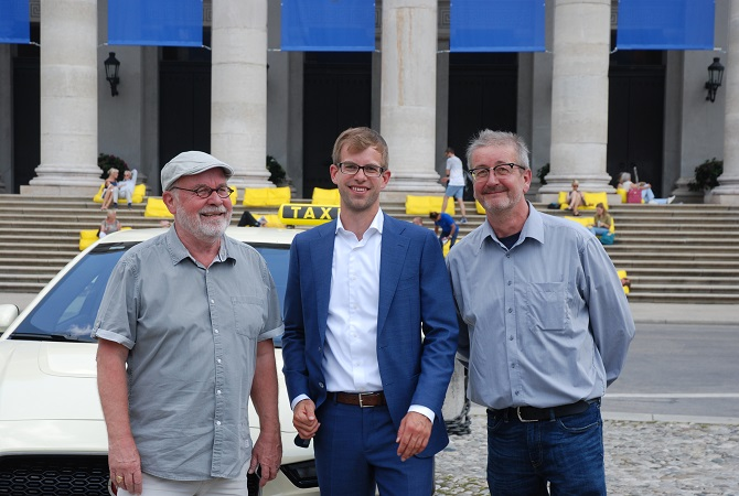 Die drei Geschäftsfüherer des mtz. Gert Wohlgemuth, Gregor Beiner und Johann Schuster (vlnr.) Foto: Taxi Times
