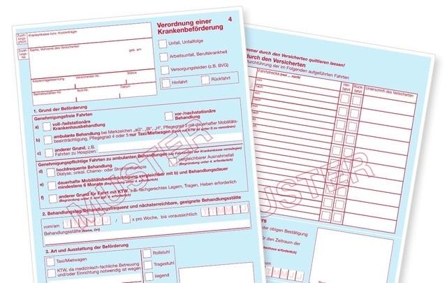 Neues Formular Verordnung Einer Krankenbeforderung